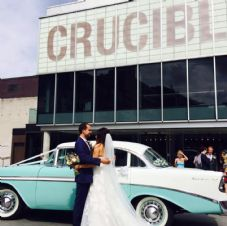 Vintage, Classic 1950's American Wedding Car Service - Sheffield Area